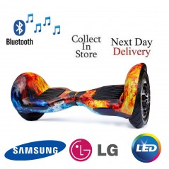 10 inch Hoverboard Cobra Bluetooth - icy Flame