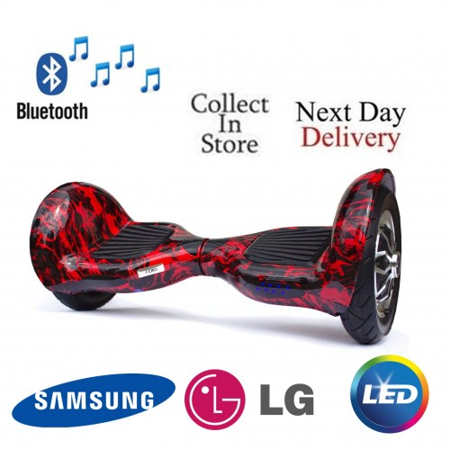 10 inch Hoverboard Cobra Bluetooth - Red Black