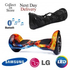 10 inch Hoverboard Cobra Bluetooth + Bag - icy Flame