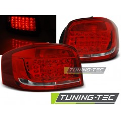 LDAUB6 AUDI A3 08-12 RED WHITE LED