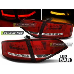 LDAU97 AUDI A4 B8 08-11 SALOON RED WHITE LED