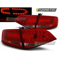 LDAU87 AUDI A4 B8 08-11 SALOON RED WHITE LED