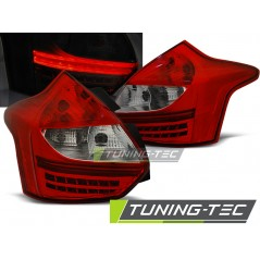 LDFO38 FORD FOCUS 3 11- HATCHBACK RED WHITE LED