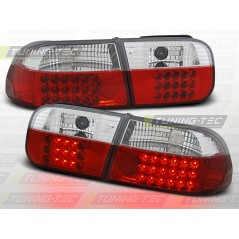 LDHO07 HONDA CIVIC 09.91-08.95 2D/4D RED WHITE LED