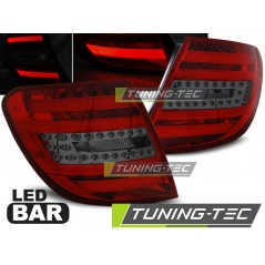 LDME77 MERCEDES C-CLASS W204 ESTATE 07-10 RED SMOKE LED BAR