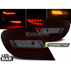 LDME69 MERCEDES C-CLASS W204 SALOON 07-10 RED SMOKE LED BAR