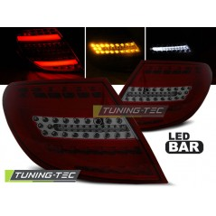 LDME72 MERCEDES C-CLASS W204 SALOON 07-10 RED SMOKE LED BAR