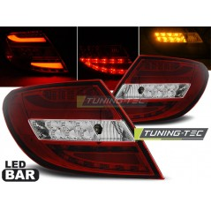 LDME68 MERCEDES C-CLASS W204 SALOON 07-10 RED WHITE LED BAR