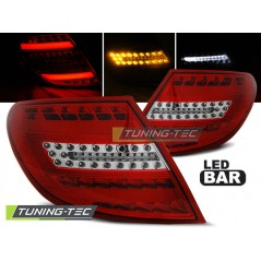 LDME71 MERCEDES C-CLASS W204 SALOON 07-10 RED WHITE LED BAR