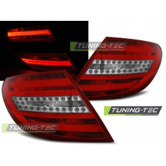 LDME64 MERCEDES C-CLASS W204 SALOON 07-10 RED WHITE LED BAR
