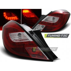 LDOP34 OPEL CORSA D 3D 04.06- RED WHITE LED