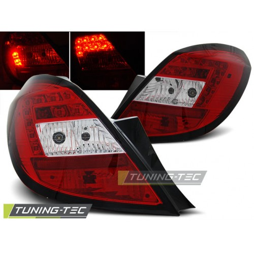 LDOP31 OPEL CORSA D 5D 04.06- RED WHITE LED