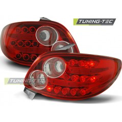 LDPE13 PEUGEOT 206 10.98- RED WHITE LED