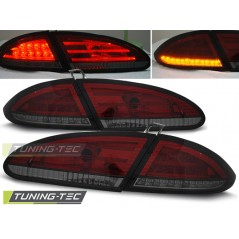 LDSE12 SEAT LEON 06.05-09 RED SMOKE LED