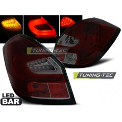 LDSK07 SKODA FABIA II 07- 06.14 RED SMOKE LED BAR