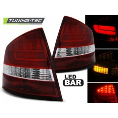 LDSK11 SKODA OCTAVIA II SALOON 03.04- RED WHITE LED BAR