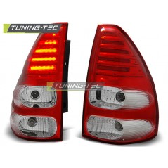 LDTO10 TOYOTA LAND CRUISER 120 03-09 RED WHITE LED