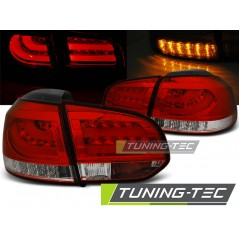 LDVWC9 VW GOLF 6 10.08-12 RED WHITE LED BAR