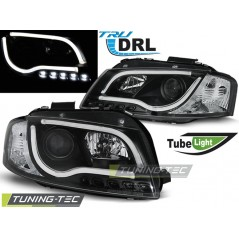 LPAUB1 AUDI A3 8P 05.03-03.08 LED TUBE LIGHTS BLACK TRU DRL
