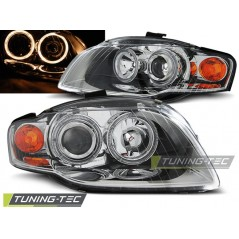 LPAU57 AUDI A4 B7 11.04-03.08 ANGEL EYES CHROME