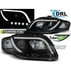 LPAUB5 AUDI A4 B7 11.04-03.08 TUBE LIGHTS BLACK TRU DRL