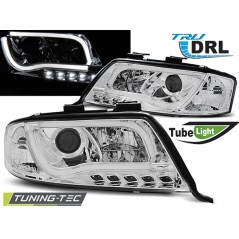 LPAUB6 AUDI A6 05.97-05.01 TUBE LIGHTS TRU DRL CHROME