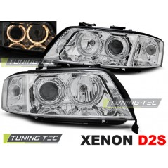 LPAU85 AUDI A6 10.99-06.01 ANGEL EYES CHROME XENON