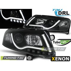 LPAUC1 AUDI A6 C6 04-08 XENON TUBE LIGHTS TRU DRL BLACK