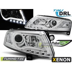 LPAUC0 AUDI A6 C6 04-08 XENON TUBE LIGHTS TRU DRL CHROME