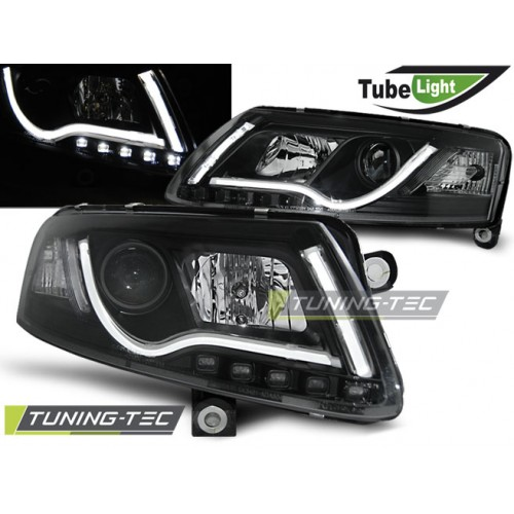 LPAU96 AUDI A6 C6 04.04-08 LED TUBE LIGHTS BLACK