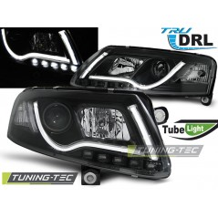 LPAUC8 AUDI A6 C6 04.04-08 LED TUBE LIGHTS TRUE DRL BLACK