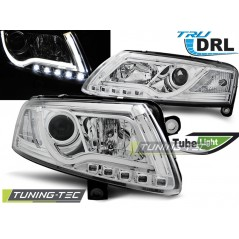 LPAUC7 AUDI A6 C6 04.04-08 LED TUBE LIGHTS TRUE DRL CHROME