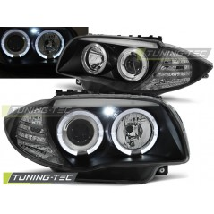 LPBM80 BMW 1 E87 / E81 04-07 ANGEL EYES BLACK