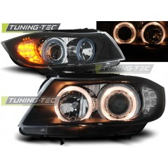 LPBM90 BMW E90/E91 03.05-08.08 ANGEL EYES BLACK LED INDICATOR