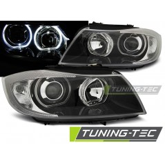 LPBME4 BMW E90/E91 03.05-08.08 LED ANGEL EYES BLACK
