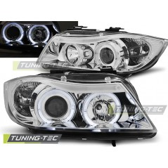 LPBM75 BMW E90/E91 03.05-08.08 ANGEL EYES CHROME