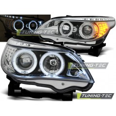 LPBM93 BMW E60/E61 03-07 ANGEL EYES CHROME LED INDIC.