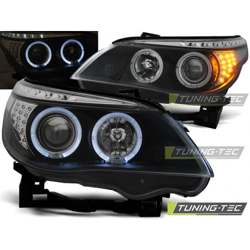 LPBM94 BMW E60/E61 03-07 ANGEL EYES BLACK LED INDIC.
