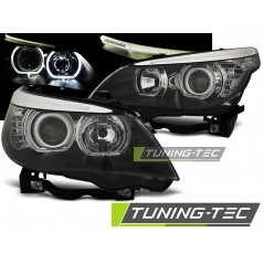 LPBME3 BMW E60/E61 03-07 LED ANGEL EYES H7/H7 BLACK