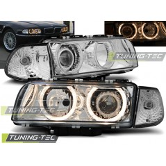 LPBM14 BMW E38 06.94-08.98 H7/H7 ANGEL EYES CHROME