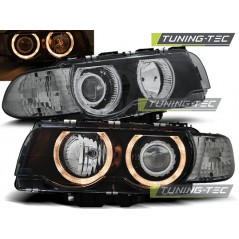 LPBM26 BMW E38 09.98-07.01 H7/H7 ANGEL EYES BLACK