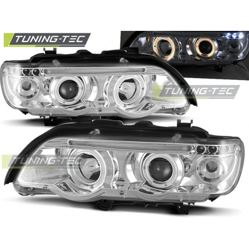 LPBM42 BMW X5 E53 09.99-10.03 ANGEL EYES CHROME