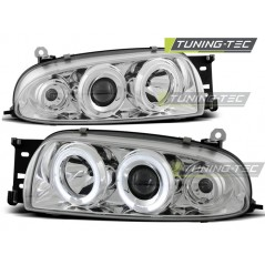 LPFO07 FORD FIESTA MK4 10.95-08.99 ANGEL EYES CHROME