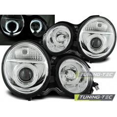 LPME29 MERCEDES W210 E-CLASS 95-05.99 ANGEL EYES CHROME