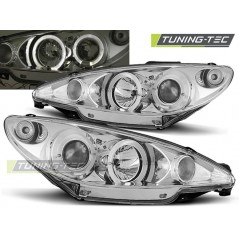 LPPE06 PEUGEOT 206 10.98-02 206 ANGEL EYES CHROME