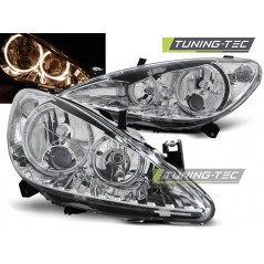 LPPE04 PEUGEOT 307 04.01-06.05 ANGEL EYES CHROME