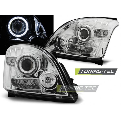 LPTO17 TOYOTA LAND CRUISER 120 03-09 ANGEL EYES CHROME CCFL