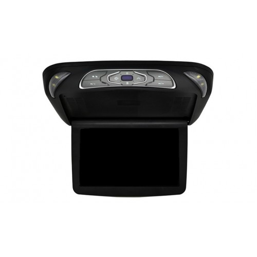 """Allroads 1140D - 11.4"""" Slimline Roof Mounted Screen with DVD Player Black"""