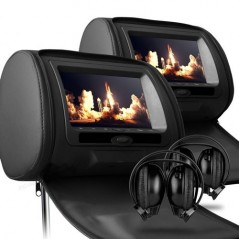 X-tron 6606 Pair Headrest DVD 7inch Game console USB SD (Black)