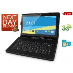 10 inch Tablet Overmax Qualcore 1021 3G, Quad Core, 8GB, 1GB, WiFi, Dual SIM with Keyboard Case